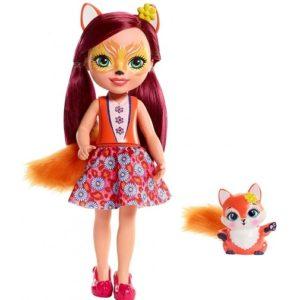 Большая кукла Лисичка Фелисити и питомец Флик Enchantimals Mattel
