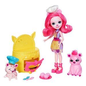 Игровой набор Веселая пекарня Petya Pig, Streusel & Nisha Enchantimals