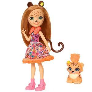 Кукла Чериш Гепарди с питомцем Cherish Cheetah & Quick-Quick Enchantimals