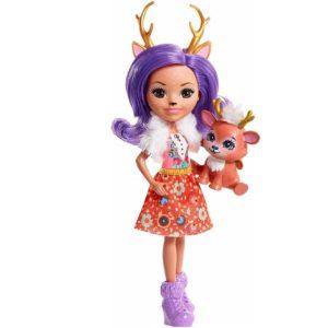 Кукла Данесса Оления с питомцем Danessa Deer & Sprint 15 см Enchantimals
