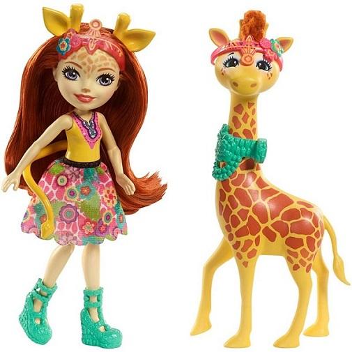 Кукла Джиллиан Жираффи с большой зверюшкой Паулс Enchantimals Mattel