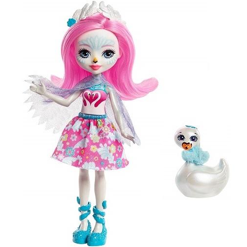 Кукла Лебедь Саффи с питомцем Enchantimals Mattel