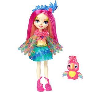 Кукла Пикки Какаду с питомцем Peeki Parrot & Sheeny Enchantimals Mattel