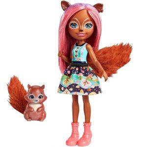 Кукла Санча Белка с питомцем Sancha Squirrel & Stumper Enchantimals Mattel