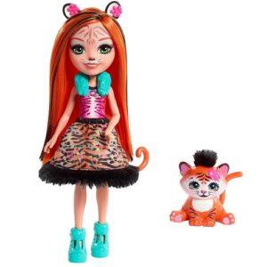 Кукла Тигрица Тэнзи с питомцем Tanzie Tiger & Tuft Enchantimals