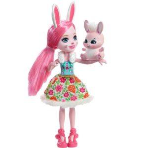Кукла кролик Бри Кроля и питомец Твист Bree Bunny Enchantimals Mattel