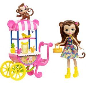 Набор Фруктовая корзинка с куклой Мерит Мартыша Merit Monkey & Compass Enchantimals
