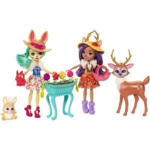 Набор из двух кукол Флаффи и Данэсса с любимыми зверюшками Enchantimals