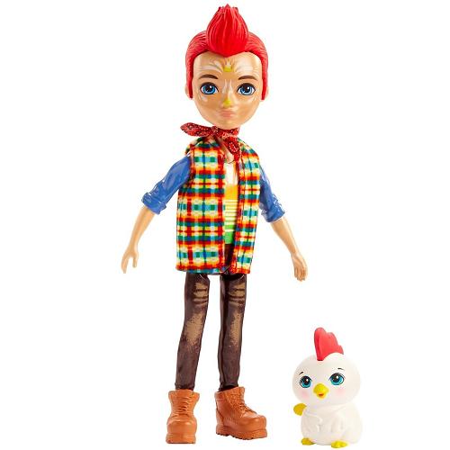 FNH22 Кукла Редвард Рустер с петушком Redward Rooster & Cluck Enchantimals Mattel