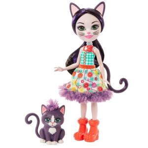 Кукла Кошка Сиеста с котенком Siesta Cat & Climber 15 см Enchantimals Mattel