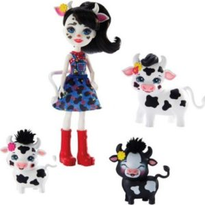 Кукла Cambrie Cow, коровка Ricotta и 2 теленка Enchantimals Mattel