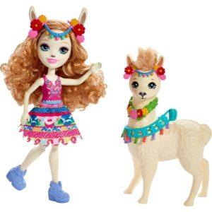 Кукла Лама Ллуэлла с питомцем Lluella Llama & Fleecy Enchantimals Mattel