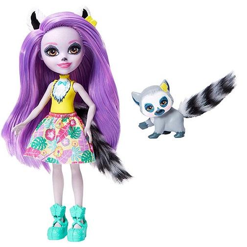 Кукла Лариса Лемури с питомцем Larissa Lemur & Ringlet Enchantimals Mattel