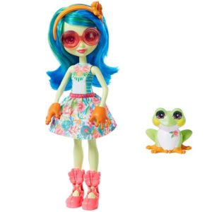 Кукла Тамика Квакша с питомцем Tamika Tree Frog & Burst Enchantimals Mattel