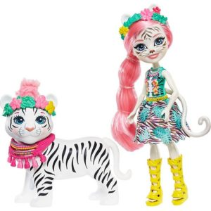 Кукла Тэдли Тигра с питомцем Tadley Tiger & Kitty Enchantimals Mattel