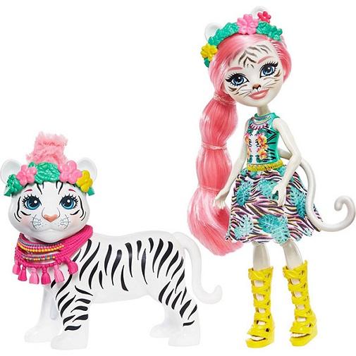 Кукла Тэдли Тигра с питомцем Tadley Tiger & Kitty Enchantimals Mattel