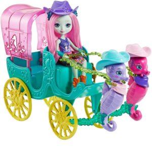 Набор Карета морских коньков с куклой Санделла Sandella Seahorse, Serafina & Kira Enchantimals