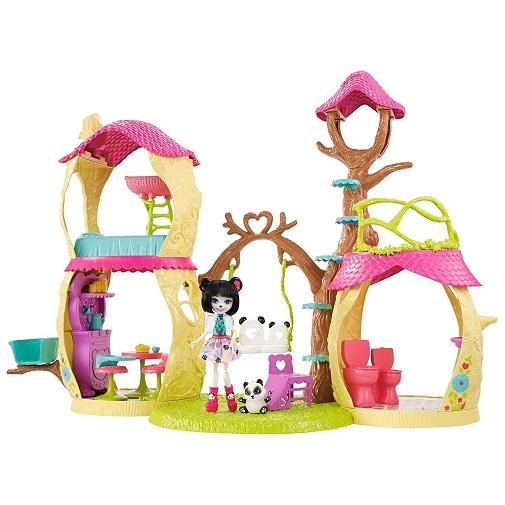 Набор Лесной замок Панда парк с куклой Прю Пандини Prue Panda & Nari Enchantimals