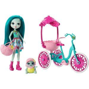 Набор Прогулка на велосипеде с куклой Тайли Черепаша Taylee Turtle & Bounder Enchantimals