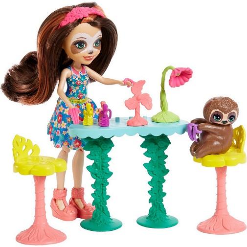 Набор Салон красоты с куклой Сэла Ленни Sela Sloth & Treebody Enchantimals