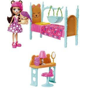 Набор Спальная Брэн Биар с питомцем Bren Bear & Snore Bedroom Enchantimals