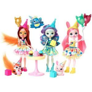 Набор из 3 кукол День Рождения Энчантималс Wonderwood Enchanted Birthday Enchantimals