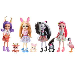 Набор из 4 кукол Happy Friends Collection с куклой Blyss Bunny Enchantimals