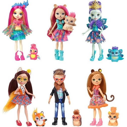 Набор из 6 кукол Natural Friends Collection с куклой Liora Lion Enchantimals