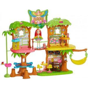 Набор Джунгли-кафе с куклой Пикки Какаду Peeki Parrot & Sheeny Enchantimals