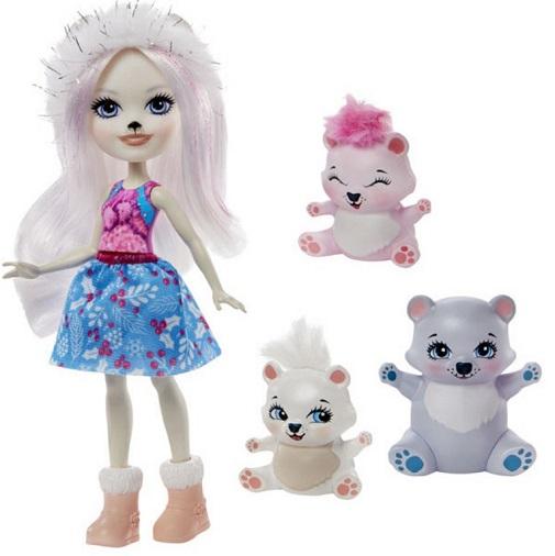Кукла полярный мишка и два медвежонка Polar Bear Family Enchantimals