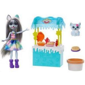 """Набор """"Обледеневшая закусочная"""" с куклой и волчонком Enchantimals"""