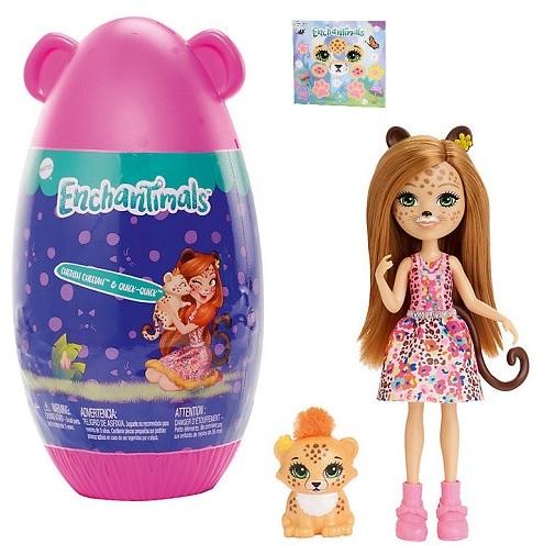 Кукла гепард Cherish Cheetah и питомец Quick-Quick в домике Enchantimals