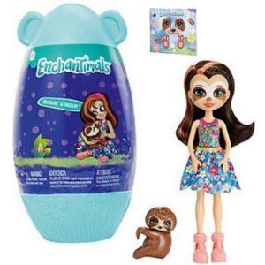 Кукла ленивец Sela Sloth и питомец Treebody в домике Enchantimals
