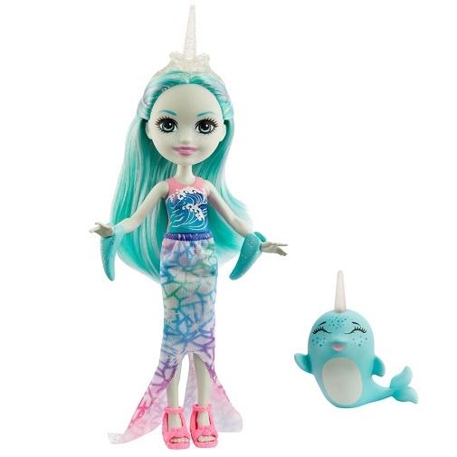 Кукла Надди Нарвал и меч Сворд Naddie Narwha & Sword Enchantimals Mattel