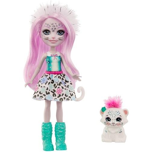 Кукла Сибилла Сноу Леопарди и Флейк Sybill Snow Leopard & Flake Enchantimals